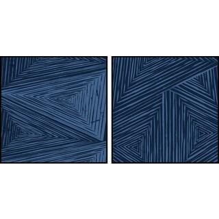 Triangular Patterns Diptych