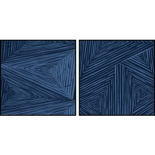Triangular Patterns Diptych - Multi-color