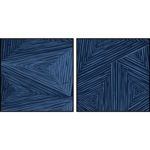 Marmont Hill - Handmade Triangular Patterns Diptych