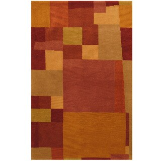 Herat Oriental Indo Hand-knotted Tibetan Wool Rug (3'7 x 5'7)
