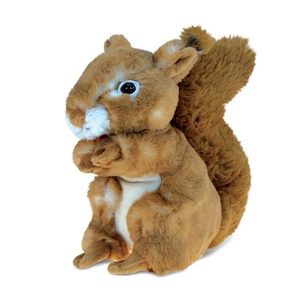 Puzzled Squirrel Multicolor 8-inch Plush Animal