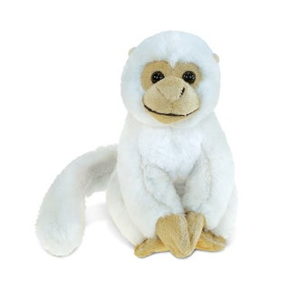 Puzzled Inc. Kids' White Squirrel Monkey 12.5-inch Super-soft Plush