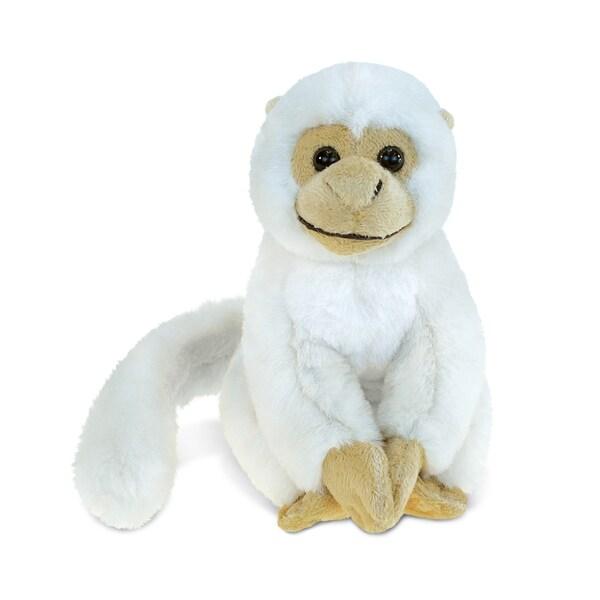 Puzzled Inc. Kids' White Squirrel Monkey 12.5-inch Super-soft Plush