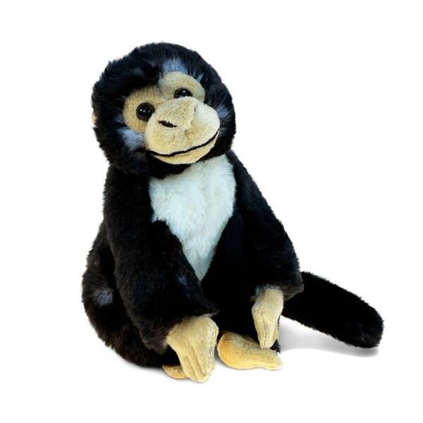 Puzzled Black Capuchin Monkey Super-soft Plush Toy