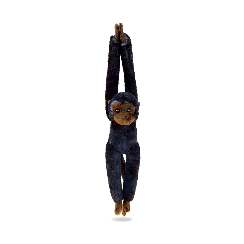 Puzzled Black/Brown Plush Long Arm Hanging Capuchin Monke...
