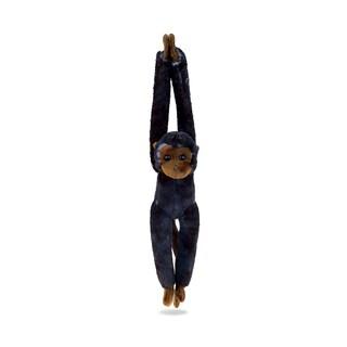 Puzzled Black/Brown Plush Long Arm Hanging Capuchin Monkey