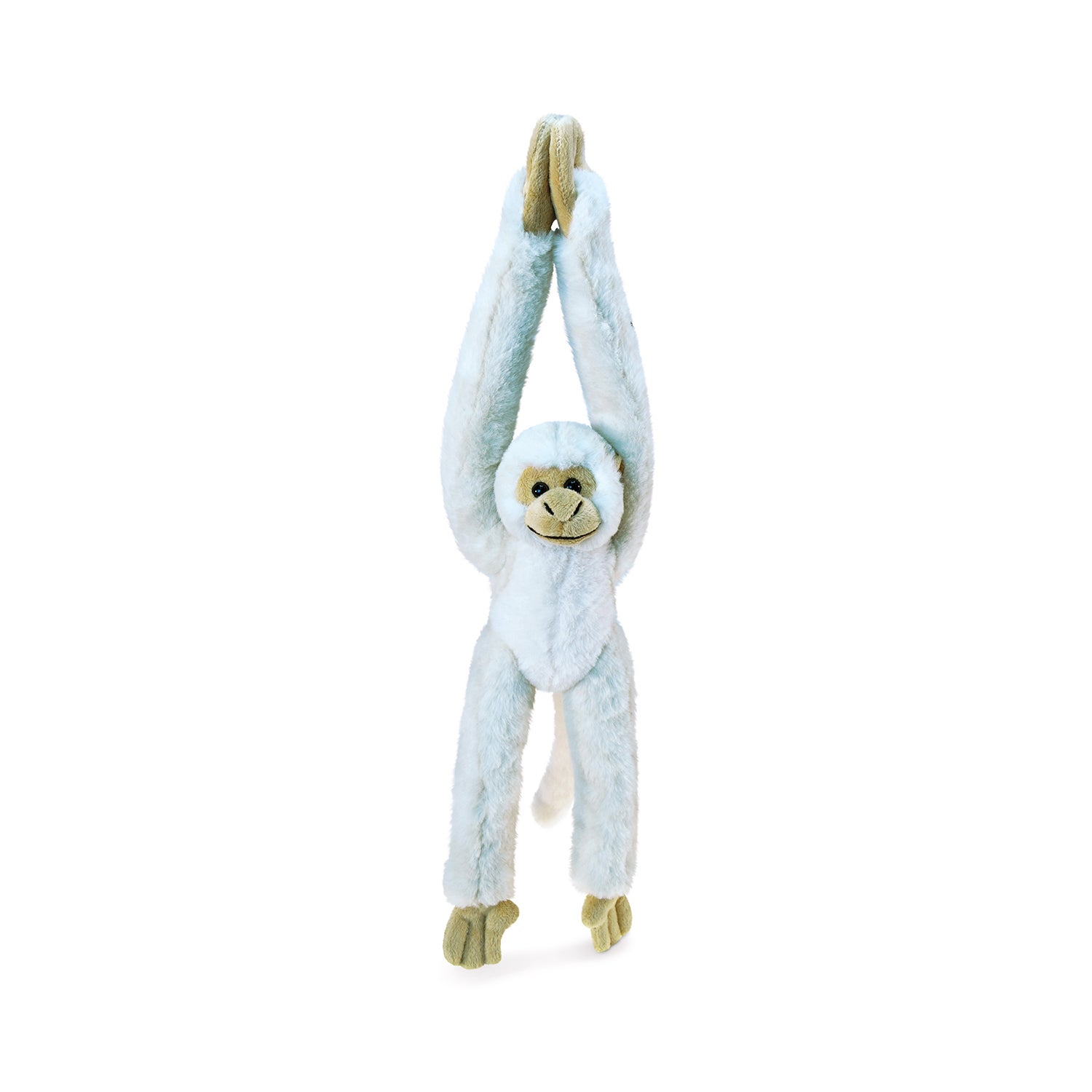Puzzled Long Arm Hanging White Squirrel Monkey Super Soft...