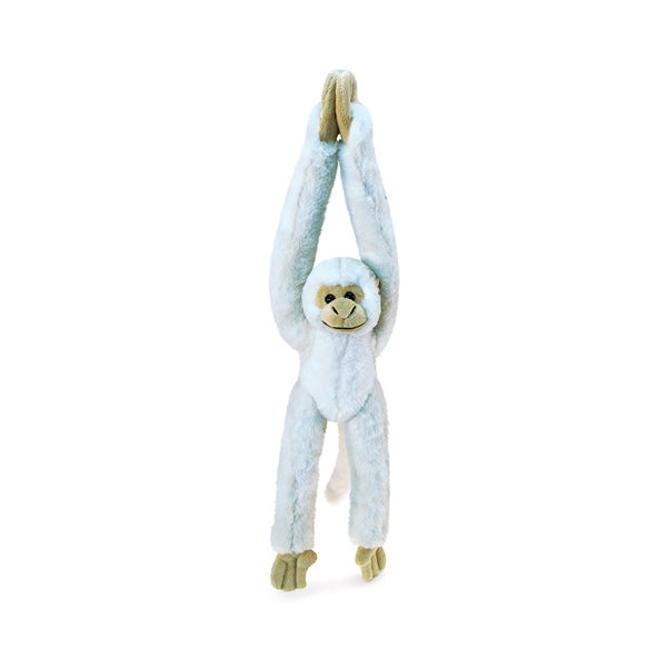 Puzzled Long Arm Hanging White Squirrel Monkey Super Soft Plush 21-inch Stuffed Animal Toy
