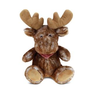 Puzzled Brown Super Soft Plush Sitting Moose