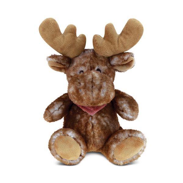 Puzzled Brown Super Soft Plush Sitting Moose