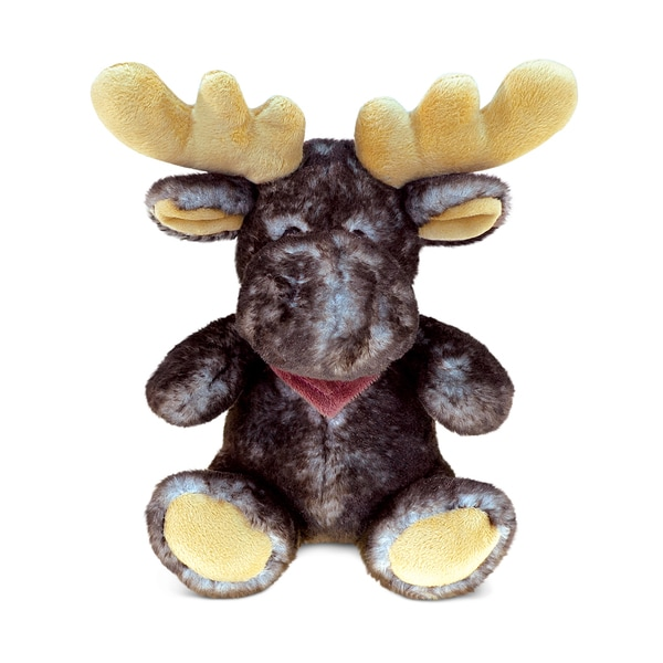 Puzzled Brown 7.5-inch Soft Plush Sitting Moose