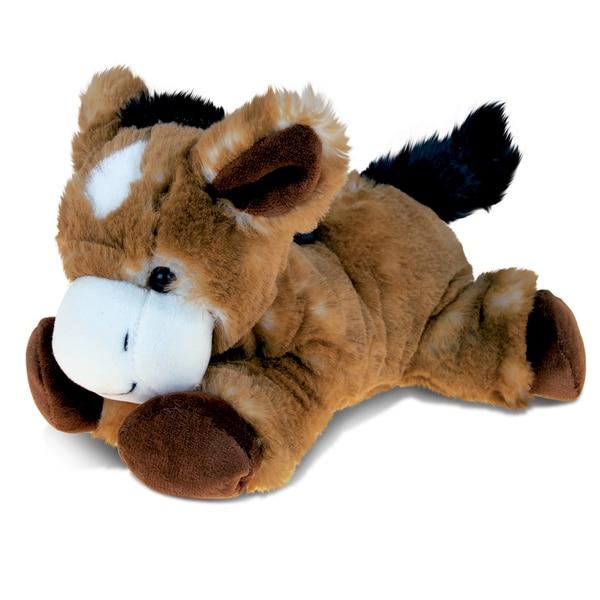 Puzzled Lying Brown Donkey Plush Animal