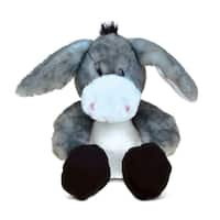 Puzzled Sitting Grey Donkey Super-soft Plush Toy