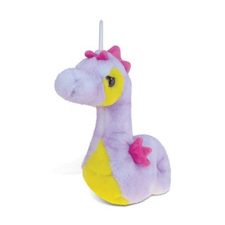 Puzzled Purple Seahorse Super-soft Plush Toy