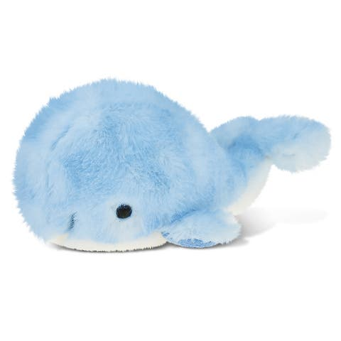 Puzzled Inc. Blue Whale 7-inch Super-soft Stuffed Plush Cuddly Animal Toy