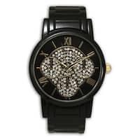 Olivia Pratt Metal Classy Rhinestone 3-dial Roman Numeral Bangle Watch