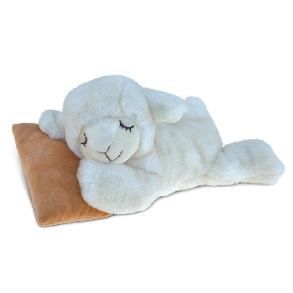 Puzzled Sleeping Sheep With Pillow Plush Animal