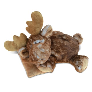 Puzzled Inc. Kids' Sleeping Moose With Pillow 10-inch Super-soft Plush