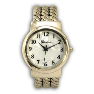 Olivia Pratt Old-fashioned Style Rope Metal Bangle Watch|https://ak1.ostkcdn.com/images/products/13549893/P20228415.jpg?impolicy=medium