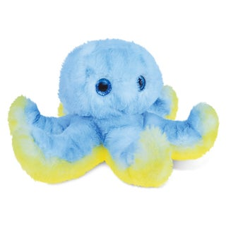 Puzzled Blue Octopus Super-soft Stuffed Plush 9.5-inch Cuddly Animal Toy