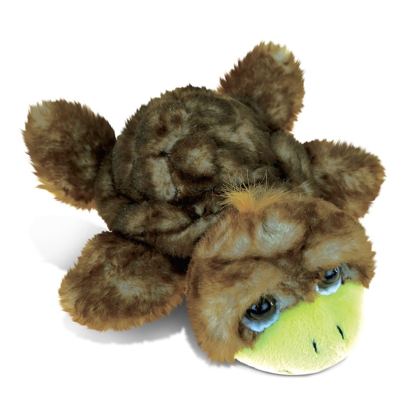 Puzzled Brown Sea Turtle Small Super Soft Plush 7-inch Stuffed Animal Toy