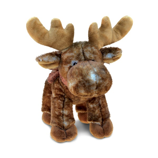 Puzzled Standing Brown Plush Moose