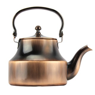Copper-Plated Stainless Steel 1.5-liter Tea Kettle