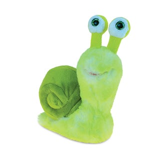 Puzzled Green 5.5-inch Super-Soft Stuffed Plush Cuddly Snail Animal Toy