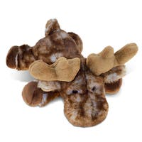 Puzzled Brown Lying Moose Plush Animal