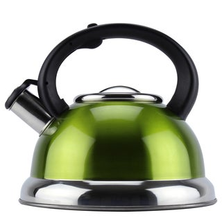 Metallic Green Stainless Steel 2.6-liter Tea Kettle