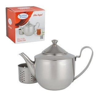 Alpine Cuisine Stainless Steel 48-ounce Tea Pot with Strainer