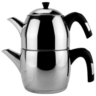 Stainless Steel Turkish Double Tea Kettle