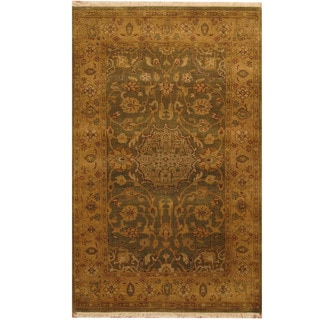 Herat Oriental Indo Hand-knotted Vegetable Dye Oushak Wool Rug (3'7 x 5'7)