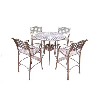 Merit 5-piece Round Table and Stools Bar Set