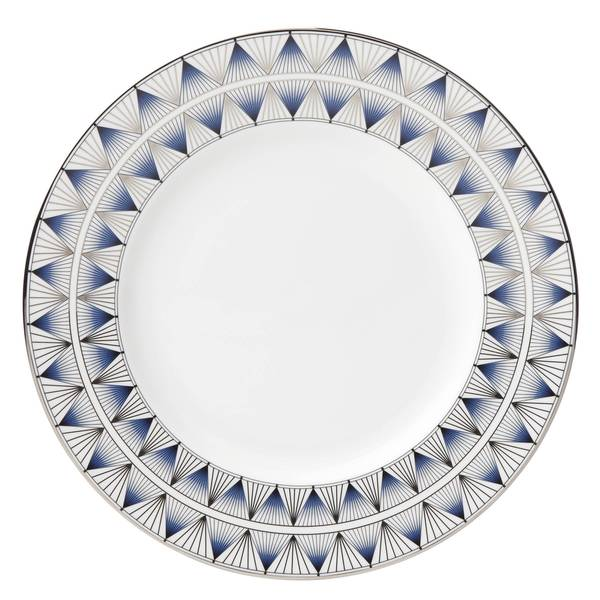Lenox Geodesia Blue Dinner Plate  sc 1 st  Overstock.com & Lenox Geodesia Blue Dinner Plate - Free Shipping On Orders Over $45 ...
