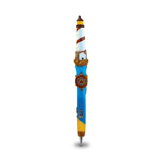 Puzzled Lighthouse Planet Multicolor Resin 6-inch Ballpoint Writing Pen