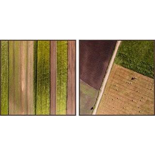 Farm Rows Diptych