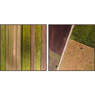 Farm Rows Diptych - Multi-color