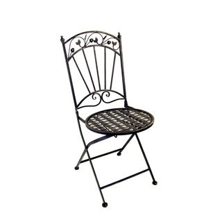FireFly Silvertone Metal 15.74 x 18.11 x 37 Outdoor Dining Chair
