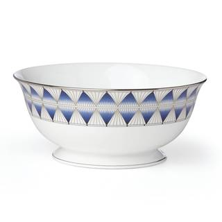 Lenox Geodesia Blue Serving Bowl
