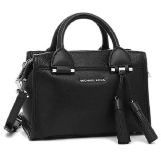 Michael Kors Geneva Small Black Leather Satchel Handbag