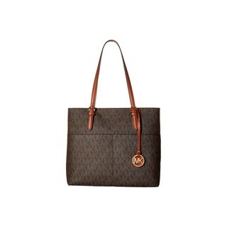 Michael Kors Bedford Large Brown Pocket Tote Bag