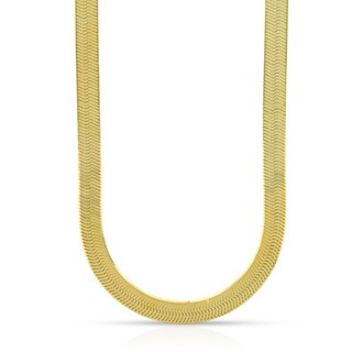 14k Yellow Gold 5mm Herringbone Necklace Chain