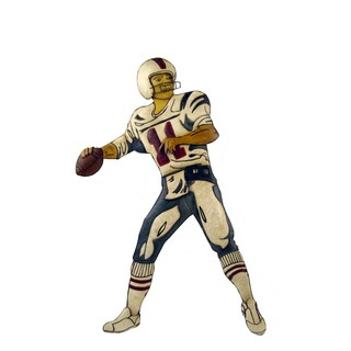 FireFly Metal 17x1x31-inch Football Player Wall Decor