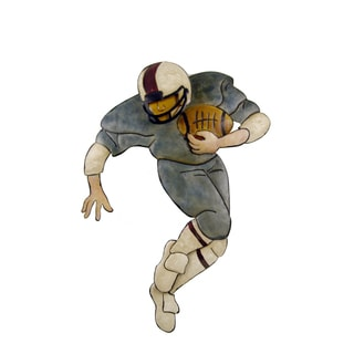 Firefly Football Player Metal 22-inch x 2-inch x 28-inch Wall Decor