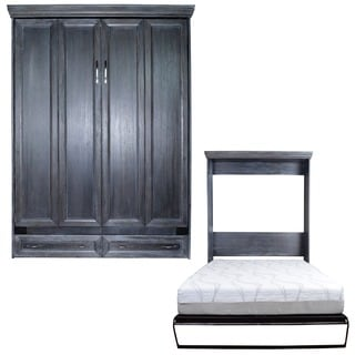 Queen Venice Matrix Murphy Bed in Black Wash Finish