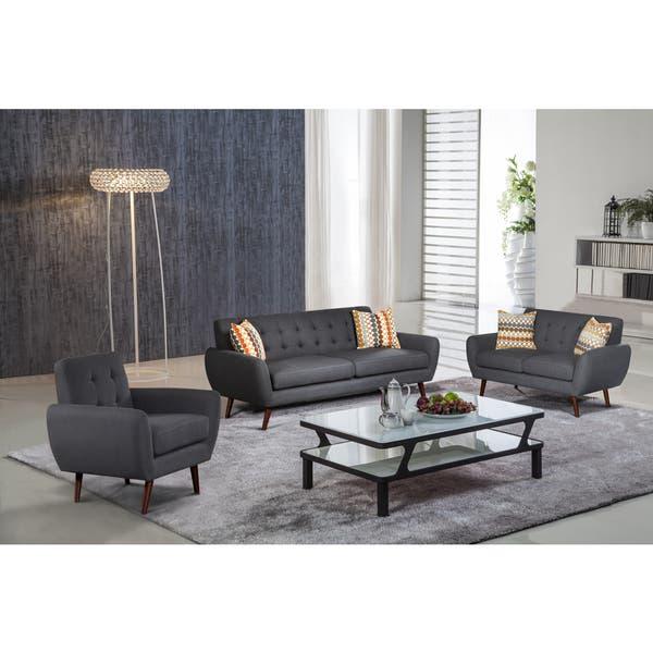 Cool Alayna 3 Pc Linen Modern Living Room Sofa Set Theyellowbook Wood Chair Design Ideas Theyellowbookinfo