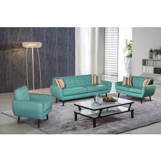 Alayna 3 pc Linen Modern Living Room Sofa set