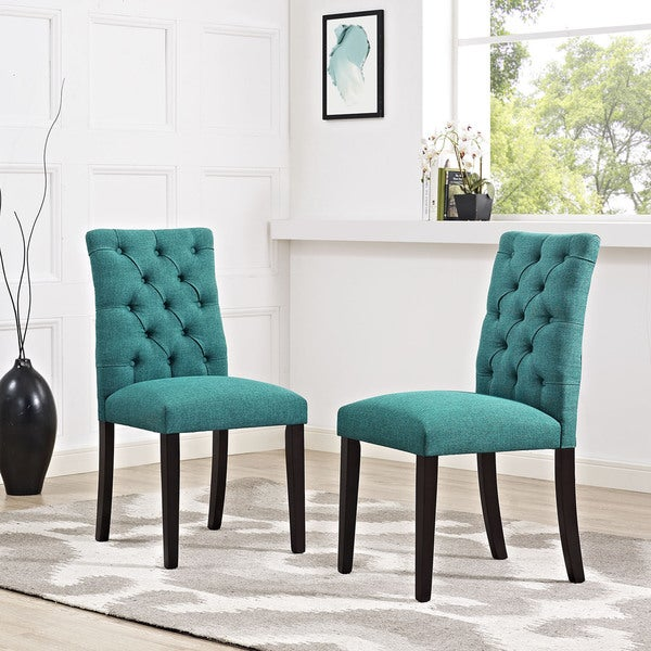 Duchess Tufted Fabric Dining Chair Free Shipping Today