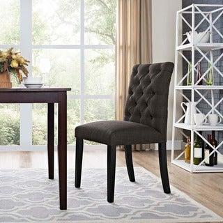 Duchess Tufted Fabric Dining Chair
